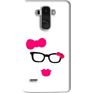 Snooky Printed Pinky Girl Mobile Back Cover For Lg G4 Stylus - Multi