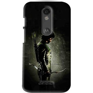 Snooky Printed Hunting Man Mobile Back Cover For Moto X Force - Black