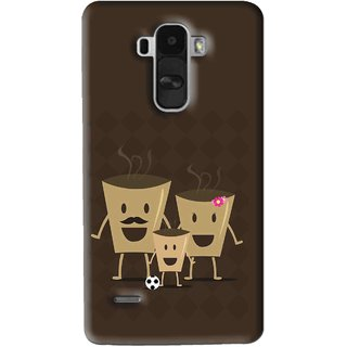 Snooky Printed Wake Up Coffee Mobile Back Cover For Lg G4 Stylus - Brown
