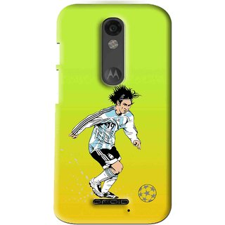 Snooky Printed Focus Ball Mobile Back Cover For Moto X Force - Multi