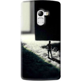 Snooky Printed God Door Mobile Back Cover For Lenovo K4 Note - Black