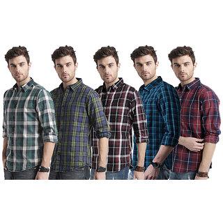Spain Style Men's Multicolor Slim Fit Casual Shirt