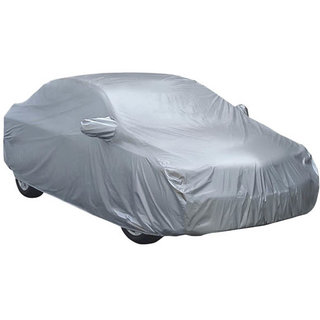 HMS  Silver Matty Car body cover With Mirror Pockets  Water Resistant  for Brezza - Colour Silver