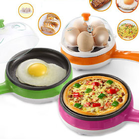 Electric Egg Boiler Pan 2 In 1 Multifunctional Steaming Device Frying Egg Boiling Roastin