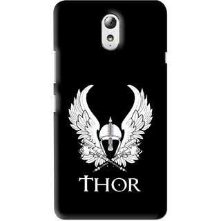Snooky Printed The Thor Mobile Back Cover For Lenovo Vibe P1M - Multi