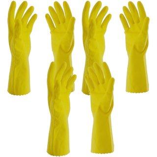 Rubber Hand Gloves, Medium, Set of 3 pair