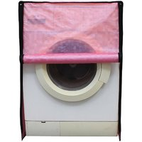 Glassiano Pink Colored Washing Machine Cover For Fully Automatic Front Load 8 Kg to 8.5 Kg Model