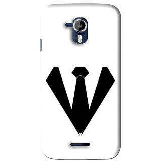 Snooky Printed Tie Collar Mobile Back Cover For Micromax Canvas Magnus A117 - Multi
