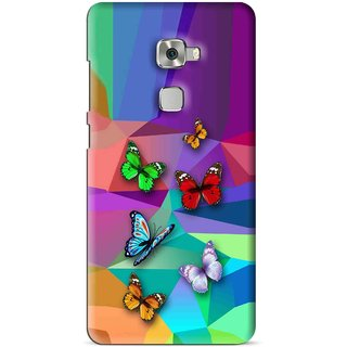 Snooky Printed Trendy Buterfly Mobile Back Cover For Huawei Mate S - Multi