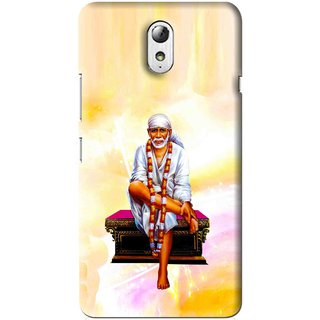 Snooky Printed Sai Baba Mobile Back Cover For Lenovo Vibe P1M - Multi