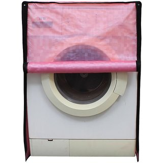 Glassiano Pink Colored Washing Machine Cover For Siemens WM10K160IN Front Load (White) 7 Kg
