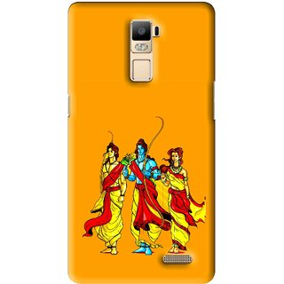Snooky Printed God Rama Mobile Back Cover For Oppo R7 Plus - Multi