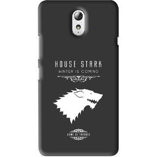 Snooky Printed House Stark Mobile Back Cover For Lenovo Vibe P1M - Multi