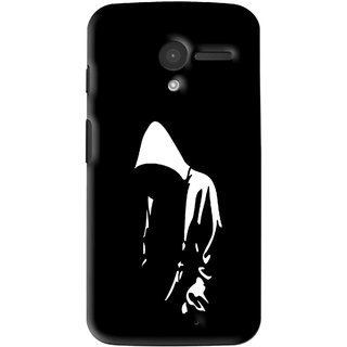 Snooky Printed Thinking Man Mobile Back Cover For Moto X - Multi