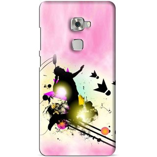 Snooky Printed Flying Man Mobile Back Cover For Huawei Mate S - Multi