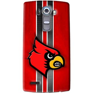 Snooky Printed Red Eagle Mobile Back Cover For Lg G4 - Multi