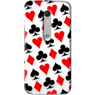 Snooky Printed Playing Cards Mobile Back Cover For Motorola Moto X Style - Multi