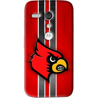 Snooky Printed Red Eagle Mobile Back Cover For Moto G - Multi