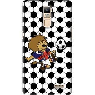 Snooky Printed Football Cup Mobile Back Cover For Oppo R7 Plus - Multi
