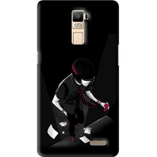 Snooky Printed Hep Boy Mobile Back Cover For Oppo R7 Plus - Multi
