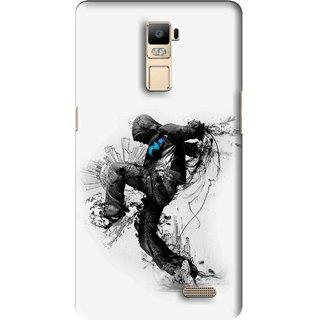 Snooky Printed Enjoying Life Mobile Back Cover For Oppo R7 Plus - Multi