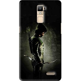 Snooky Printed Hunting Man Mobile Back Cover For Oppo R7 Plus - Multi
