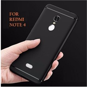 Redmi Note 4 black Slim Soft Silicon Rubberised Back Cover by Shop4u