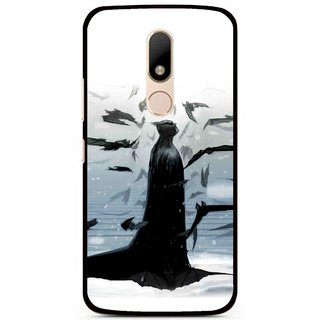 Snooky Printed Black Bats Mobile Back Cover For Motorola Moto M - Black