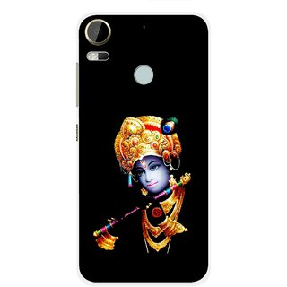 Snooky Printed God Krishna Mobile Back Cover For HTC Desire 10 Pro - Black