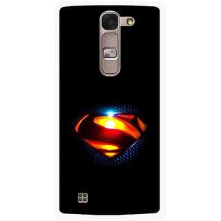 Snooky Printed Super Hero Mobile Back Cover For Lg Spirit - Black