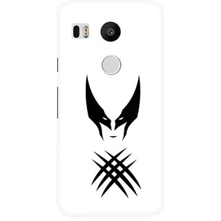 Snooky Printed Dont Take Panga Mobile Back Cover For Lg Google Nexus 5X - White