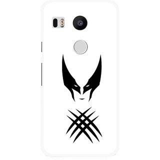 Snooky Printed Dont Take Panga Mobile Back Cover For Lg Google Nexus 5X - White