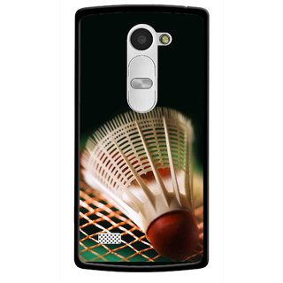 Snooky Printed Badminton Mobile Back Cover For Lg Leon - Black