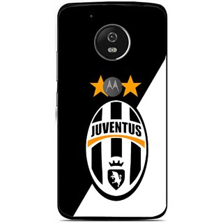 Snooky Printed Football Club Mobile Back Cover For Moto G5 Plus - Black