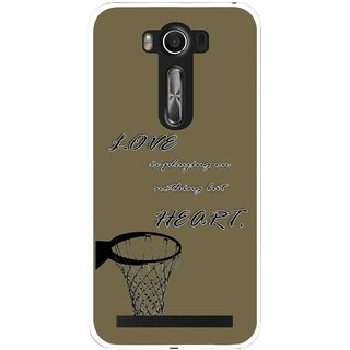 Snooky Printed Heart Games Mobile Back Cover For Asus Zenfone 2 Laser ZE500KL - Brown