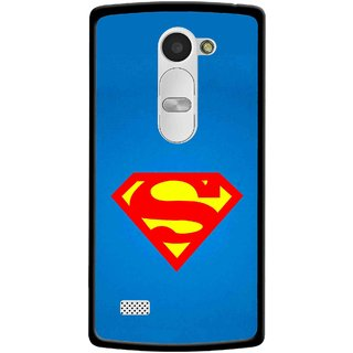 Snooky Printed Super Logo Mobile Back Cover For Lg Leon - Blue