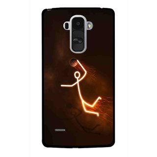 Snooky Printed Burning Man Mobile Back Cover For Lg G4 Stylus - Brown