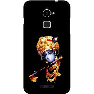 Snooky Printed God Krishna Mobile Back Cover For Coolpad Note 3 Lite - Black