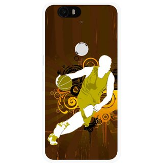 Snooky Printed Chamoins wins Mobile Back Cover For Huawei Nexus 6P - Brown