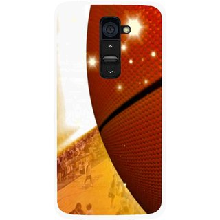 Snooky Printed Basketball Club Mobile Back Cover For Lg G2 - Brown