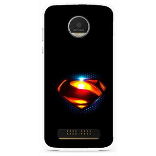 Snooky Printed Super Hero Mobile Back Cover For Moto Z Play - Black