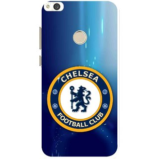 Snooky Printed Football Club Mobile Back Cover For Huawei Honor 8 Lite - Blue