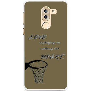 Snooky Printed Heart Games Mobile Back Cover For Huawei Honor 6X - Brown