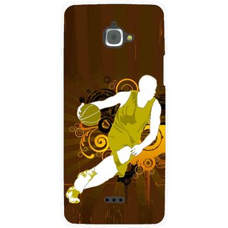 Snooky Printed Chamoins wins Mobile Back Cover For Infocus M350 - Brown