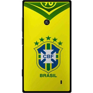 Snooky Printed Brasil Mobile Back Cover For Nokia Lumia 520 - Yellow