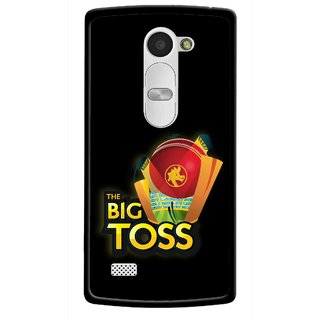 Snooky Printed Big Toss Mobile Back Cover For Lg Leon - Black