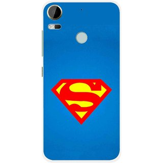 Snooky Printed Super Logo Mobile Back Cover For HTC Desire 10 Pro - Blue
