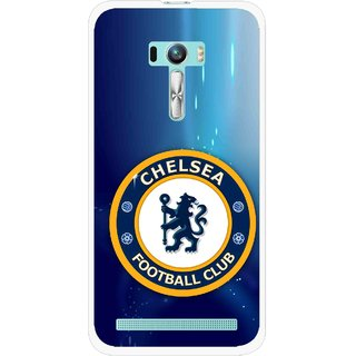 Snooky Printed Football Club Mobile Back Cover For Asus Zenfone Selfie - Blue