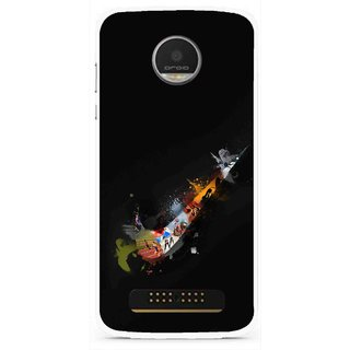 Snooky Printed All is Right Mobile Back Cover For Moto Z Play - Black