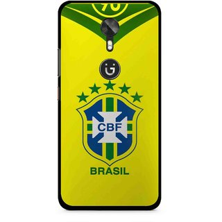 Snooky Printed Brasil Mobile Back Cover For Gionee A1 - Yellow